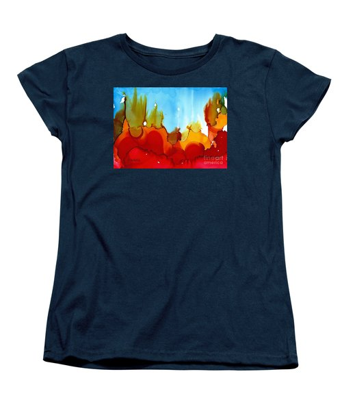 Up In Flames Women's T-Shirt (Standard Cut) by Yolanda Koh