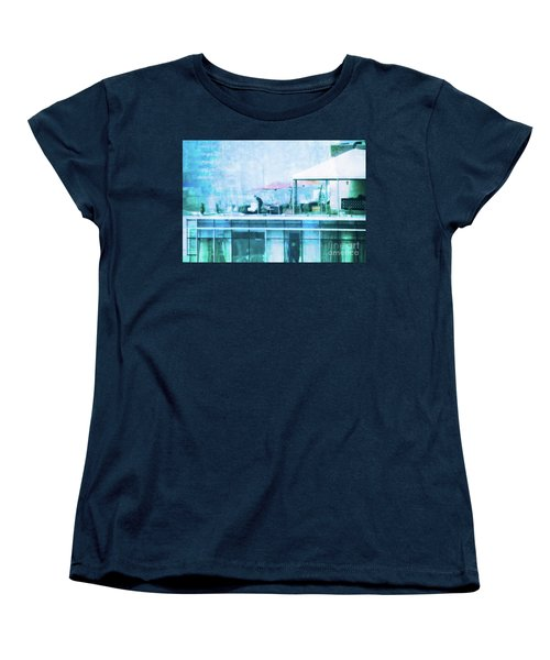 Women's T-Shirt (Standard Cut) featuring the digital art Up On The Roof - II by Mary Machare