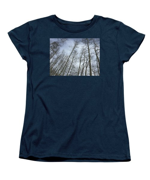 Up Through The Aspens Women's T-Shirt (Standard Cut) by Christin Brodie