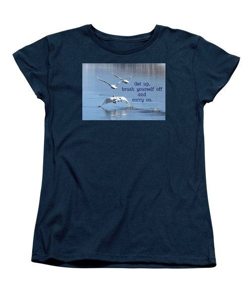 Up, Up And Away Carry On Women's T-Shirt (Standard Cut) by DeeLon Merritt
