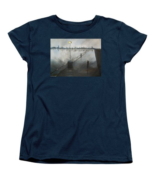 Upon The Boardwalk Women's T-Shirt (Standard Cut) by Raymond Doward