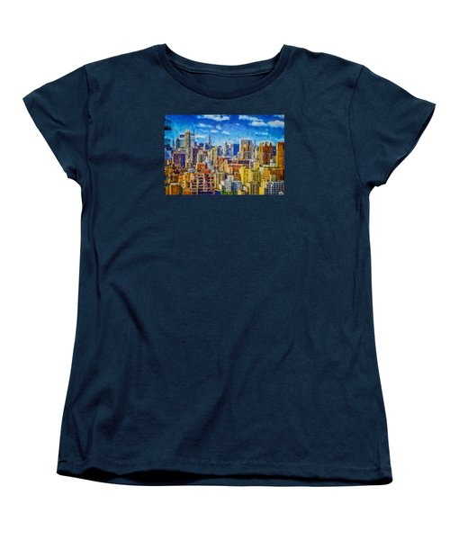 Upper Eastside Skyline Women's T-Shirt (Standard Cut) by Kai Saarto