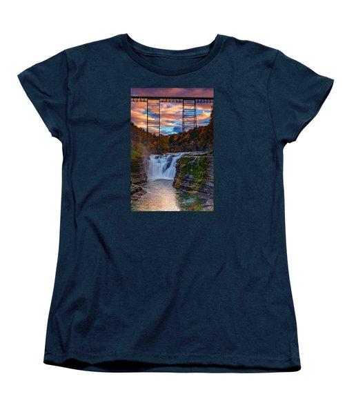 Upper Falls Letchworth State Park Women's T-Shirt (Standard Cut)