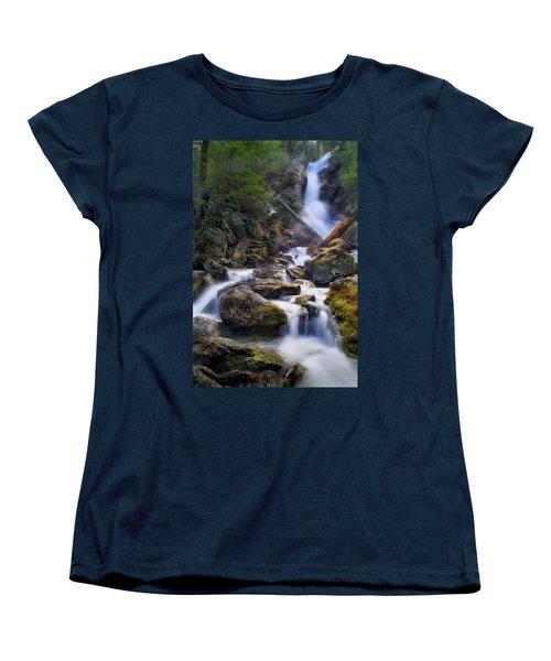 Women's T-Shirt (Standard Cut) featuring the photograph Upper Race Brook Falls 2017 by Bill Wakeley