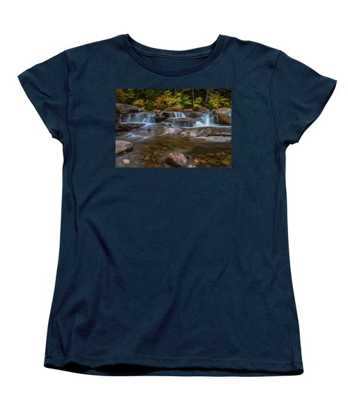 Women's T-Shirt (Standard Cut) featuring the photograph Upper Swift River Falls In White Mountains New Hampshire by Ranjay Mitra