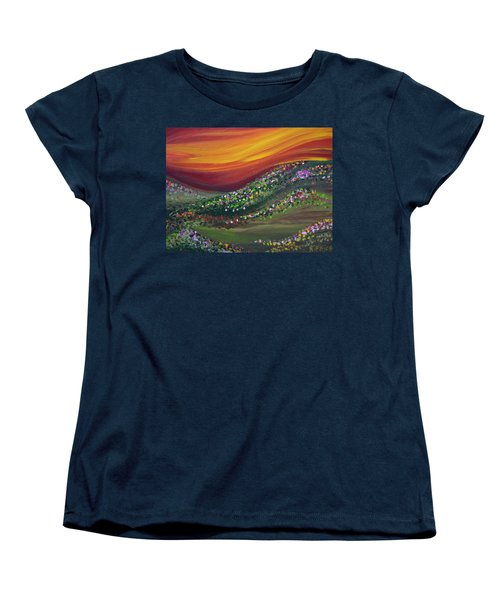 Women's T-Shirt (Standard Cut) featuring the painting Ups And Downs by Ashley Price