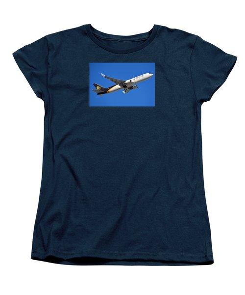 Ups Boeing 767-34af N332up Phoenix Sky Harbor January 12 2015 Women's T-Shirt (Standard Cut) by Brian Lockett