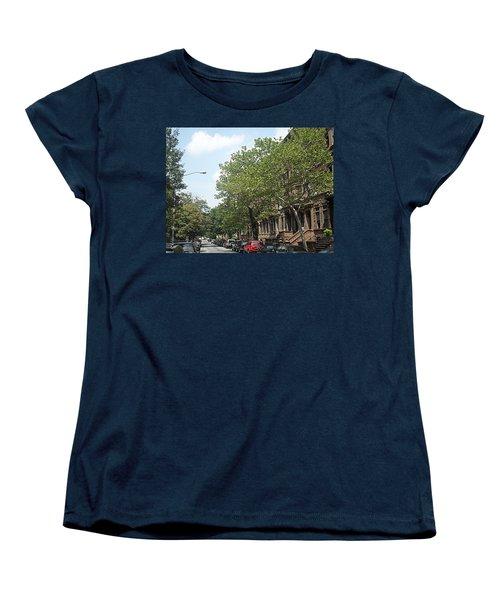 Women's T-Shirt (Standard Cut) featuring the photograph Uptown Ny Street by Vannetta Ferguson