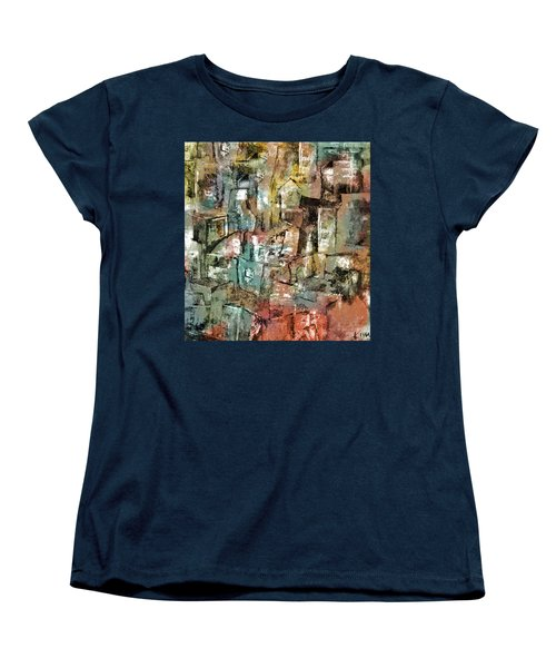 Women's T-Shirt (Standard Cut) featuring the mixed media Urban #6 by Kim Gauge