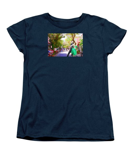 Women's T-Shirt (Standard Cut) featuring the painting Urban Dancers  by Judy Kay