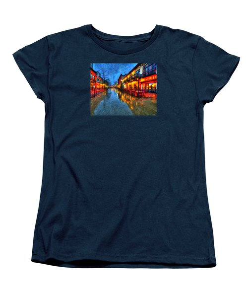 Urban Rain Reflections Women's T-Shirt (Standard Cut) by Andre Faubert