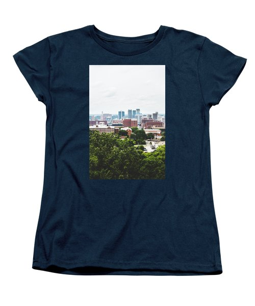 Women's T-Shirt (Standard Cut) featuring the photograph Urban Scenes In Birmingham  by Shelby Young