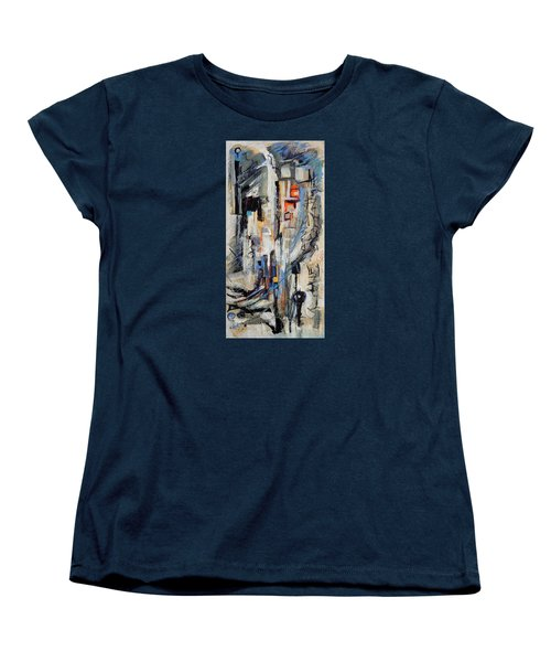 Women's T-Shirt (Standard Cut) featuring the painting Urban Street 2 by Mary Schiros