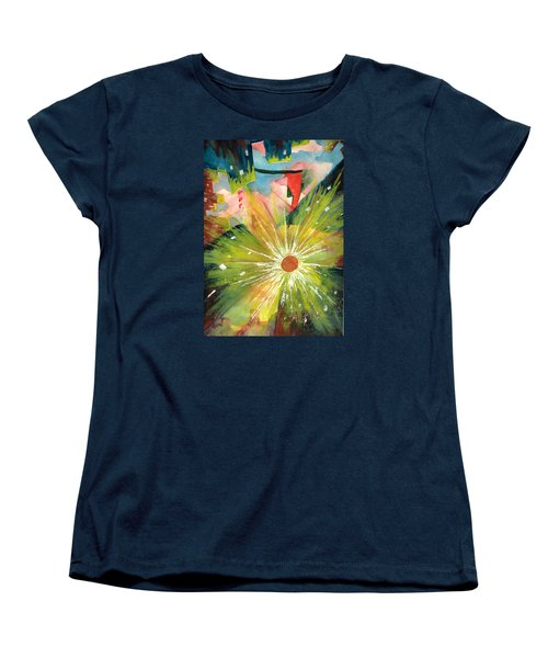 Women's T-Shirt (Standard Cut) featuring the painting Urban Sunburst by Andrew Gillette