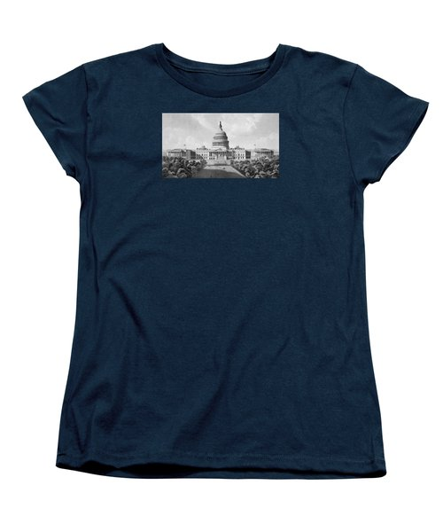 Us Capitol Building Women's T-Shirt (Standard Cut) by War Is Hell Store