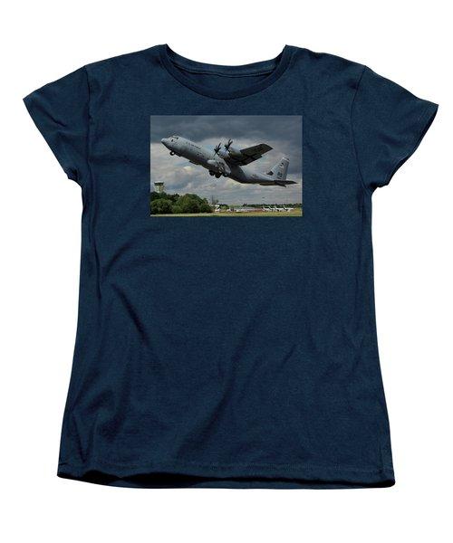 Usaf Lockheed-martin C-130j-30 Hercules  Women's T-Shirt (Standard Cut) by Tim Beach
