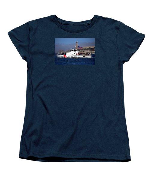 Uscg Hawksbill Patrols San Francisco Bay During Fleet Week Women's T-Shirt (Standard Cut)