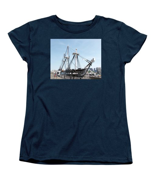 Uss Constitution Dry Dock Women's T-Shirt (Standard Cut) by Caroline Stella