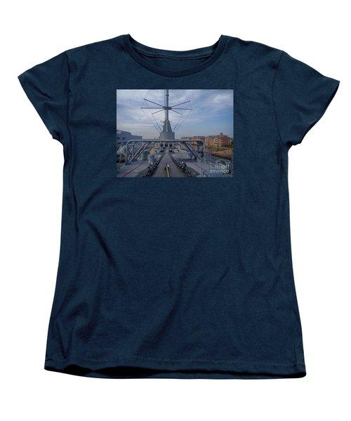Uss Wisconsin  Women's T-Shirt (Standard Cut) by Melissa Messick