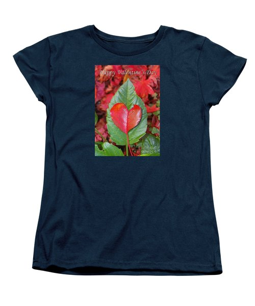 Women's T-Shirt (Standard Cut) featuring the photograph Valentine's Day Nature Card by Debra Thompson