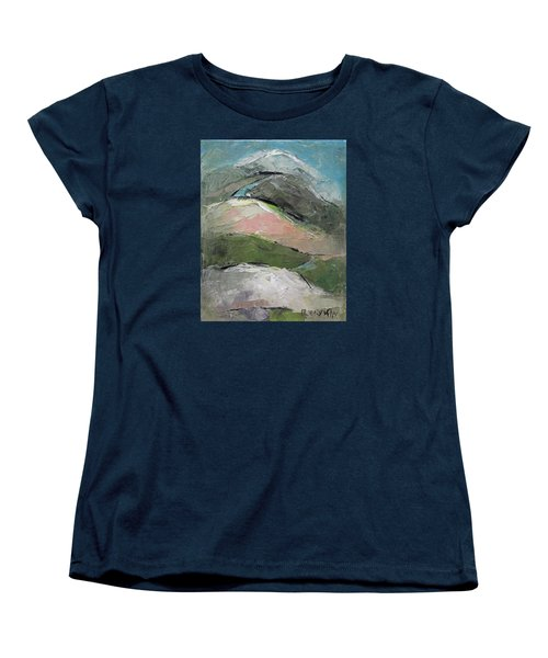 Women's T-Shirt (Standard Cut) featuring the painting Valley by Becky Kim