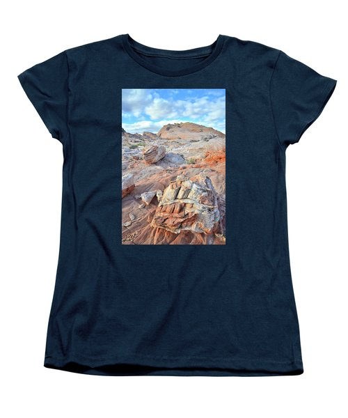 Valley Of Fire Boulders Women's T-Shirt (Standard Cut) by Ray Mathis