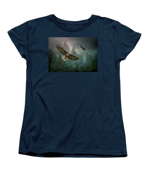 Valley Of The Eagles. Women's T-Shirt (Standard Cut) by Brian Tarr