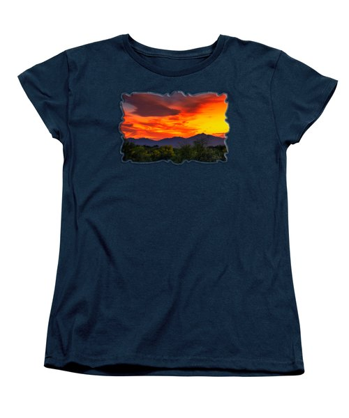 Valley Sunset H32 Women's T-Shirt (Standard Cut) by Mark Myhaver