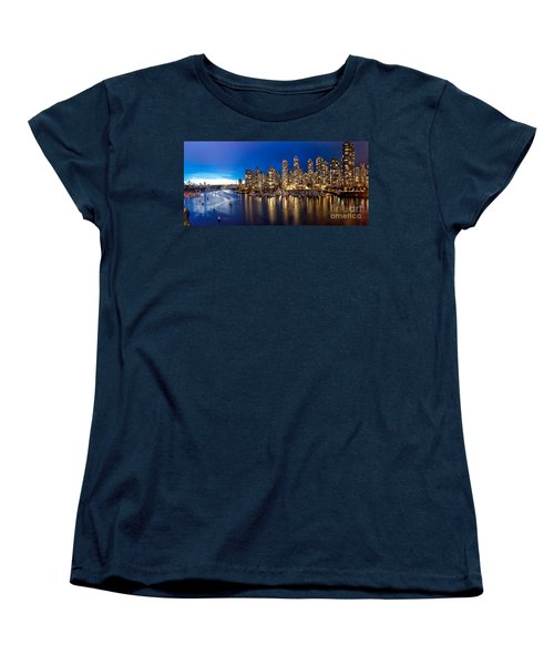 Vancouver Skyline Women's T-Shirt (Standard Cut) by Rod Jellison