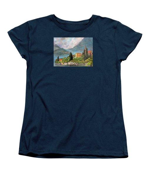 Varenna Italy Women's T-Shirt (Standard Cut) by Donna Tucker