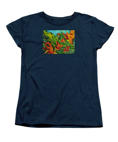 Women's T-Shirt (Standard Cut) featuring the painting Variation by Teresa Wegrzyn
