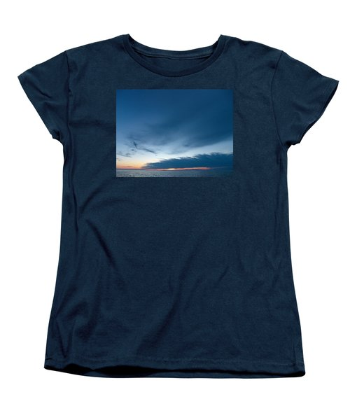 Women's T-Shirt (Standard Cut) featuring the photograph Variations Of Sunsets At Gulf Of Bothnia 4 by Jouko Lehto