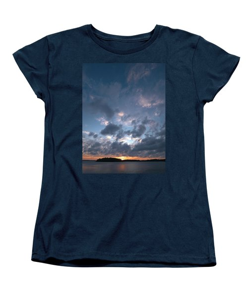 Women's T-Shirt (Standard Cut) featuring the photograph Variations Of Sunsets At Gulf Of Bothnia 5 by Jouko Lehto