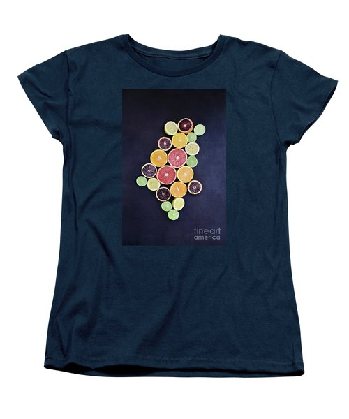 Women's T-Shirt (Standard Cut) featuring the photograph Variety Of Citrus Fruits by Stephanie Frey