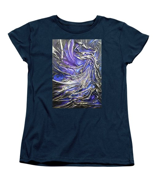 Women's T-Shirt (Standard Cut) featuring the mixed media Veiled Figure by Angela Stout