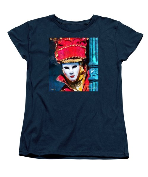 Venetian Mask Women's T-Shirt (Standard Cut) by Elizabeth Coats