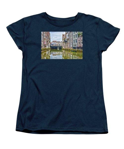 Venetian Vibe In Dordrecht Women's T-Shirt (Standard Cut) by Frans Blok