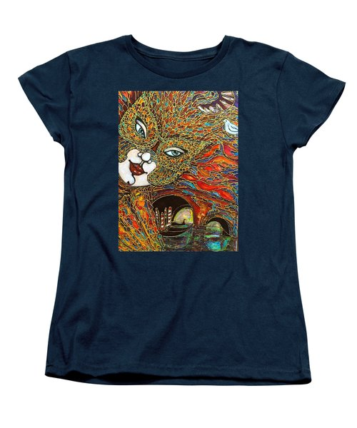 Women's T-Shirt (Standard Cut) featuring the painting Venezia by Rae Chichilnitsky