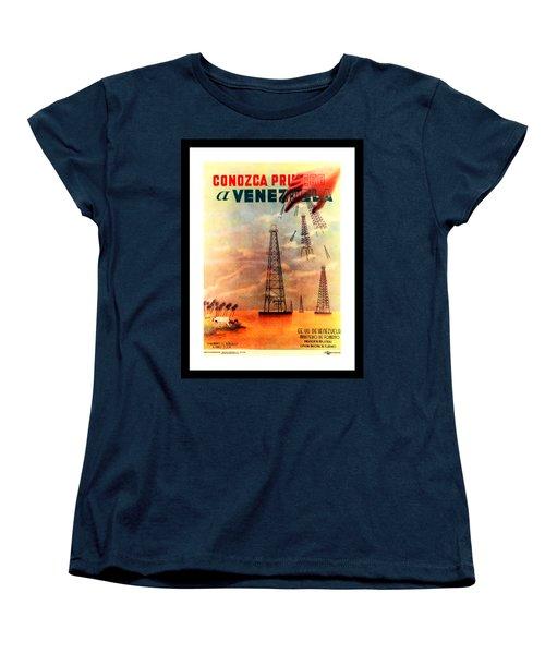 Venezuela Tourism Petroleum Art 1950s Women's T-Shirt (Standard Cut) by Peter Gumaer Ogden Collection