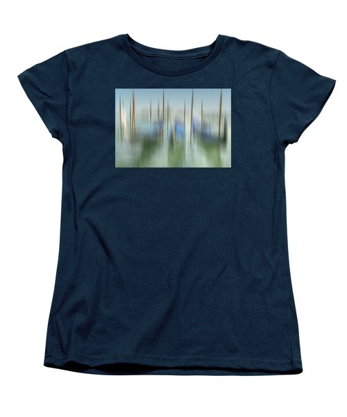 Venice Gondolas Impression 1 Women's T-Shirt (Standard Cut) by Marty Garland