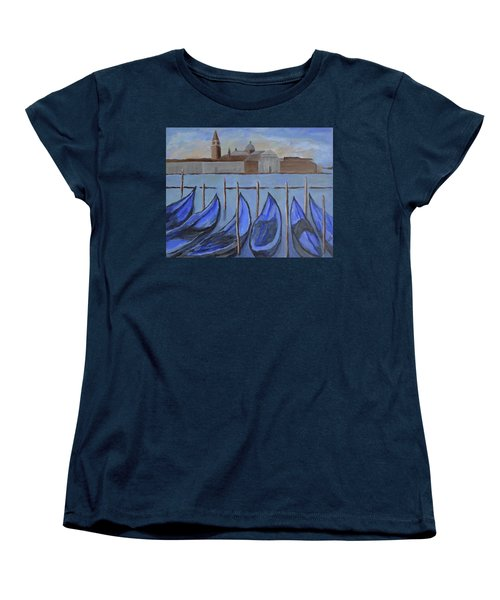Women's T-Shirt (Standard Cut) featuring the painting Venice by Victoria Lakes