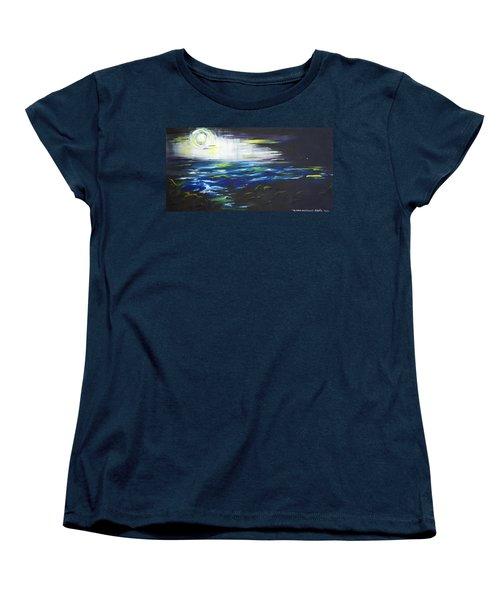 Ventura Seascape At Night Women's T-Shirt (Standard Cut) by Sheridan Furrer