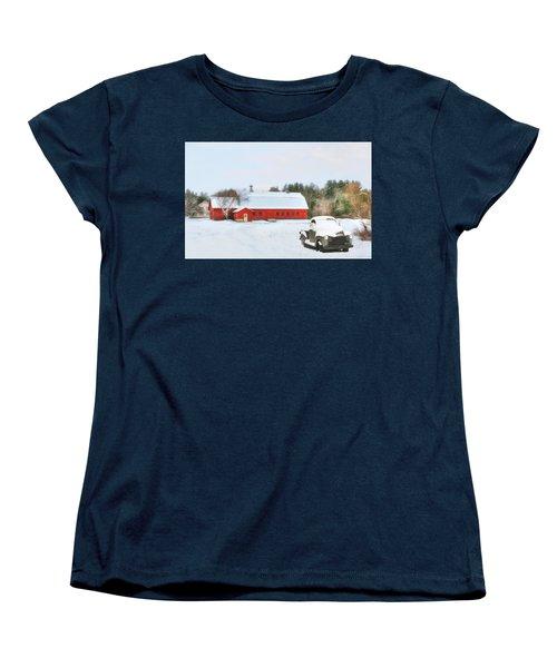 Women's T-Shirt (Standard Cut) featuring the digital art Vermont Memories by Sharon Batdorf