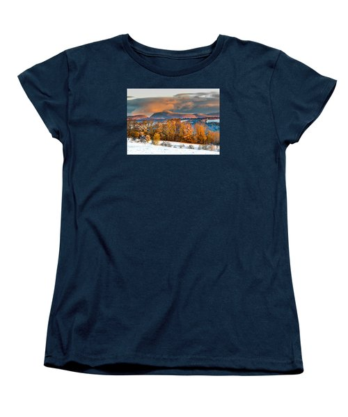 Vermont Snowliage Scene Women's T-Shirt (Standard Cut) by Tim Kirchoff