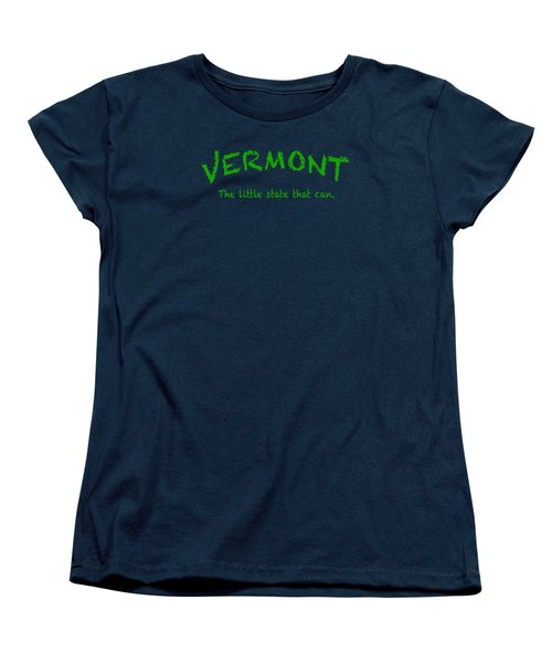 Vermont The Little State Women's T-Shirt (Standard Cut) by George Robinson