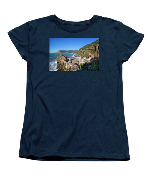 Vernazza In Cinque Terre Women's T-Shirt (Standard Cut)