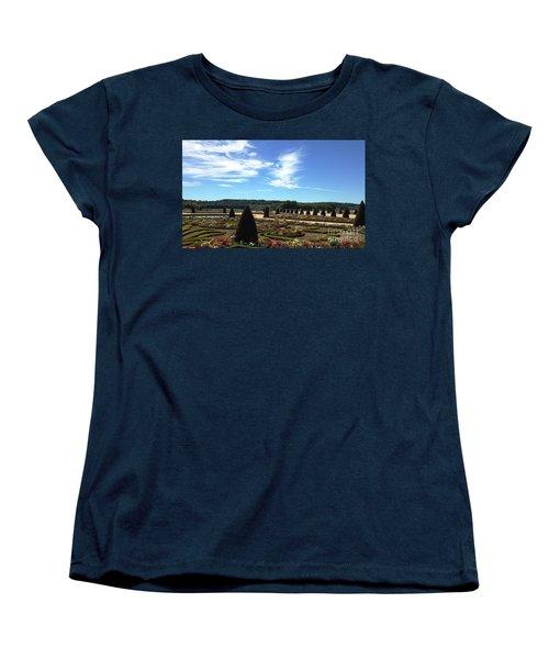 Versailles Palace Gardens Women's T-Shirt (Standard Cut) by Therese Alcorn