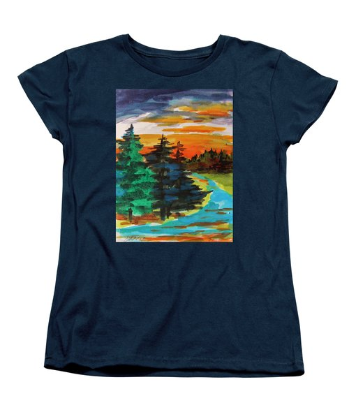 Women's T-Shirt (Standard Cut) featuring the painting Very Quiet by John Williams