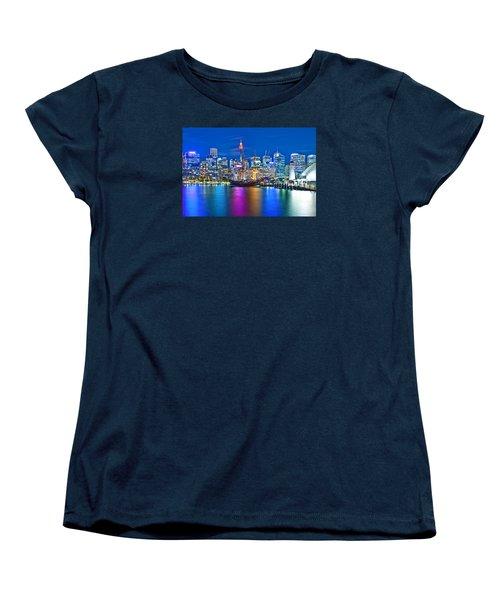 Vibrant Darling Harbour Women's T-Shirt (Standard Cut) by Az Jackson