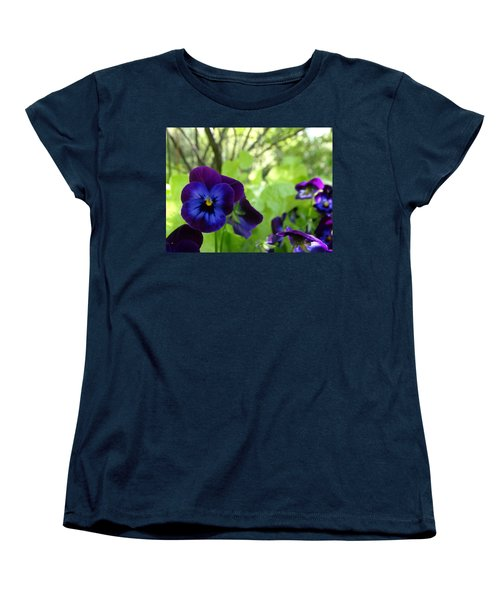 Vibrant Violets In Purple Women's T-Shirt (Standard Cut) by Rebecca Overton